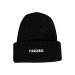 PLEASURES: Standard Logo Beanie (Black) PLEASURES - Nowhere