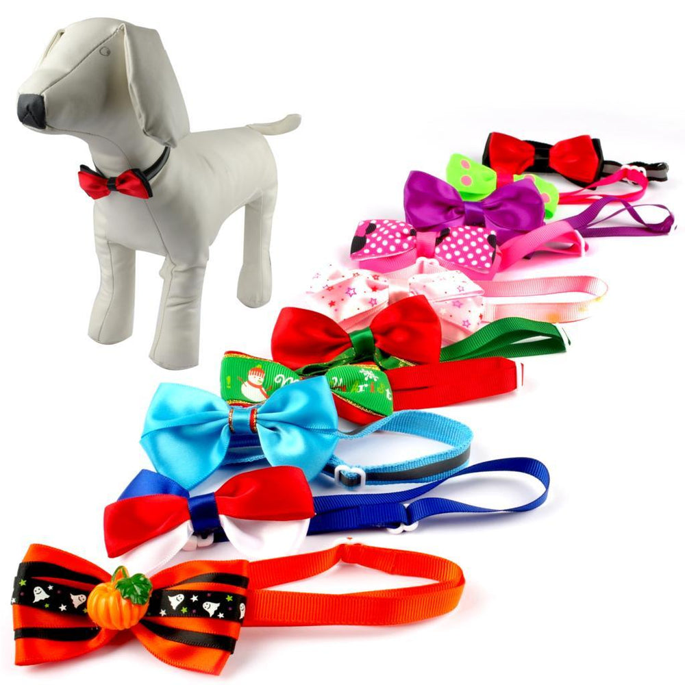 10 Pieces Assorted Dog Bow Ties for Everyday Wear - mycosypet
