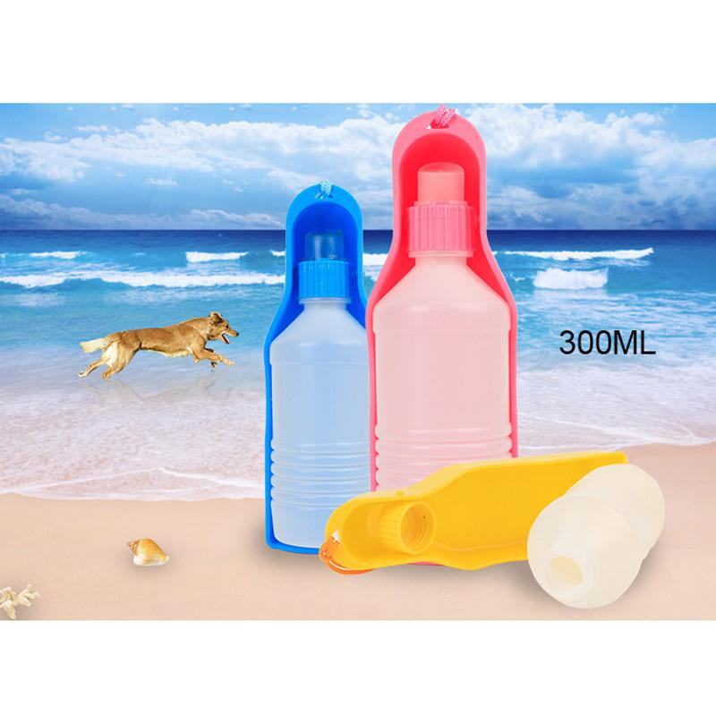 300/500ml Portable Plastic Dog Drinking Bottle for Outdoor Travels - mycosypet