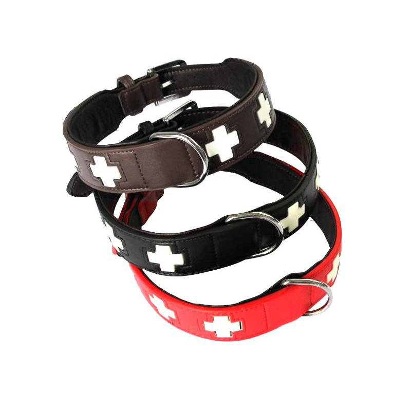 Adjustable PU Leather-Made Luminous Collar for Dogs - mycosypet