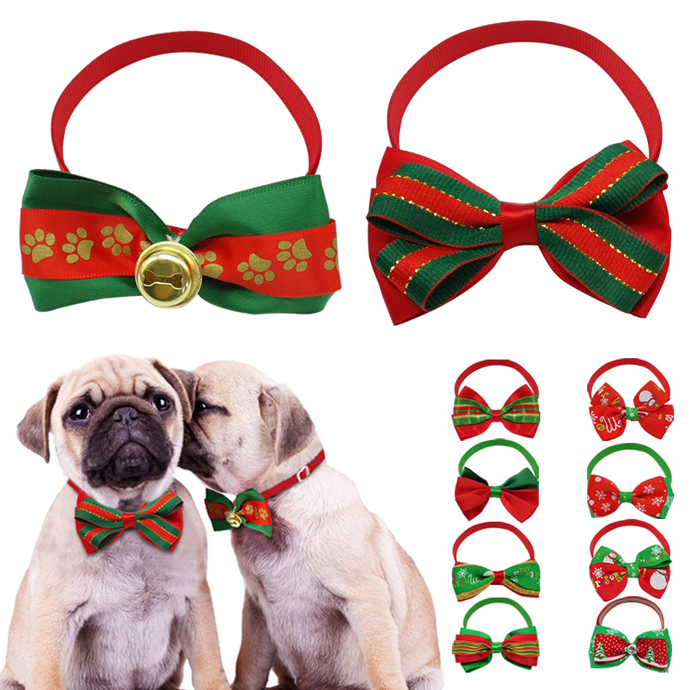 Reflective Dog Bow for the Christmas Season - mycosypet