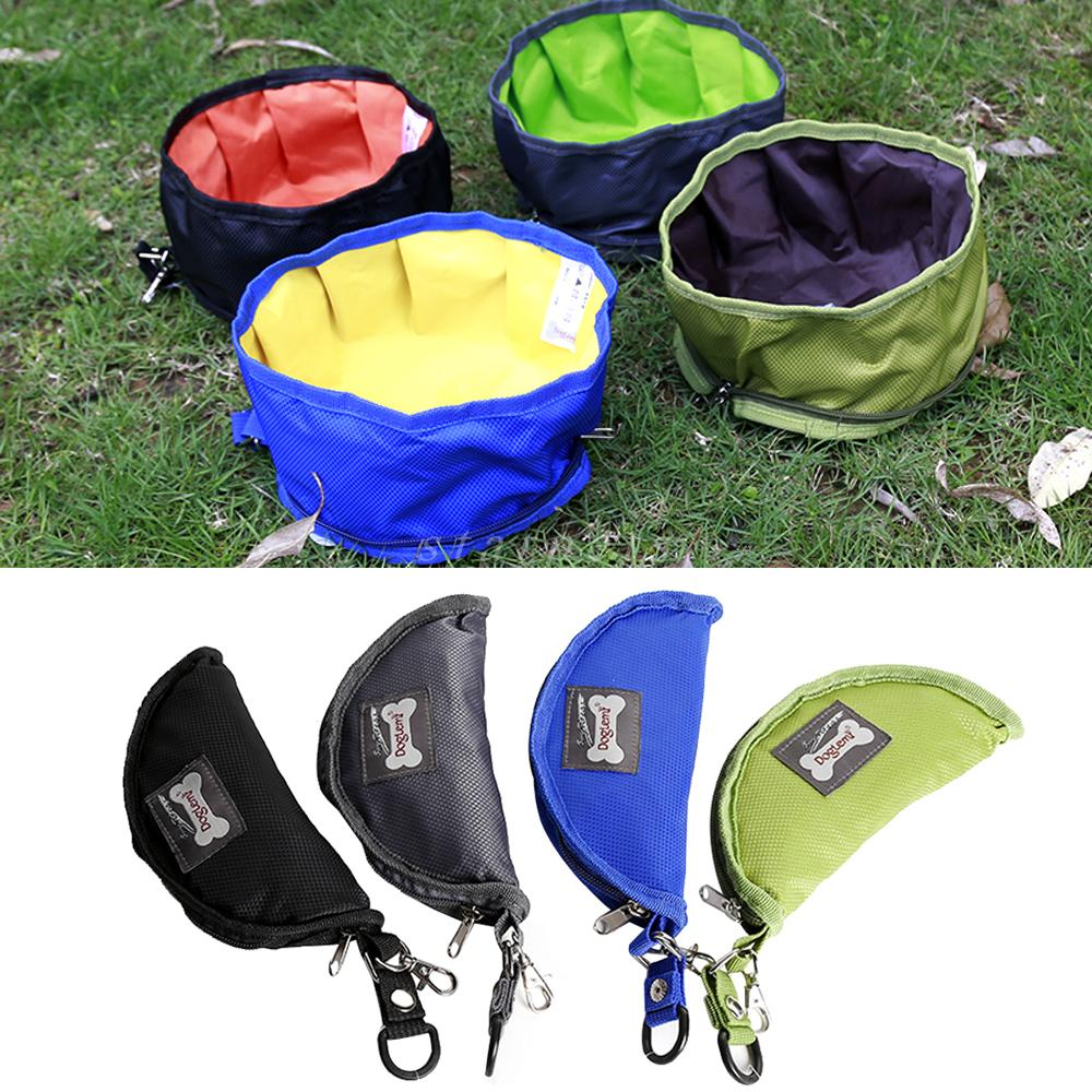 Foldable Dog Drinking and Feeding Bowl with Strap for Easy Carry - mycosypet
