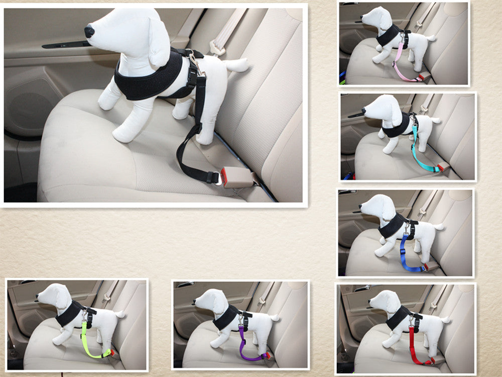 Durable Pet Dog Car Travel Seat Belt and Harness - mycosypet