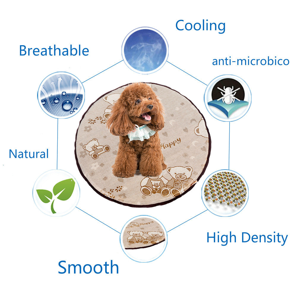 Round Cooling Mat with Antimicrobial Feature - mycosypet