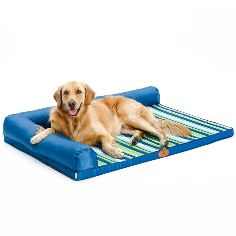 All-Season Orthopedic Dog Bed with Soft Headrest - mycosypet