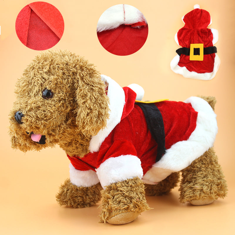 Santa Claus Dog Costume for Your Adorable Furry Friend - mycosypet