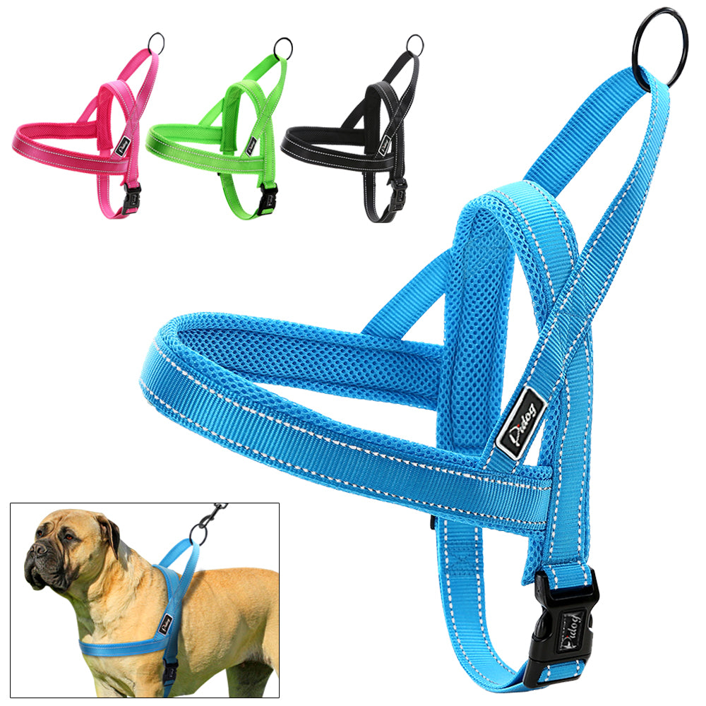 No-Pull Reflective Nylon Dog Harness for Small, Medium and Large Dogs - mycosypet