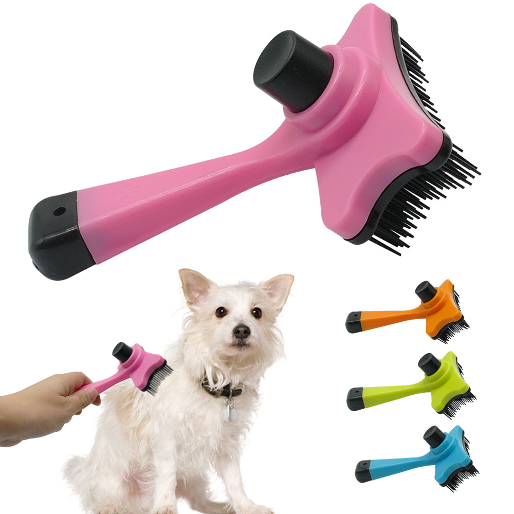 High-Quality Dog Grooming Brush in Blue, Yellow, Orange, and Pink - mycosypet