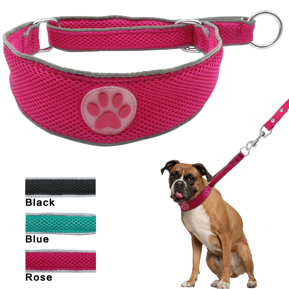 Soft, Breathable and Adjustable Nylon Mesh Pet Dog Collar for Daily Walking - mycosypet