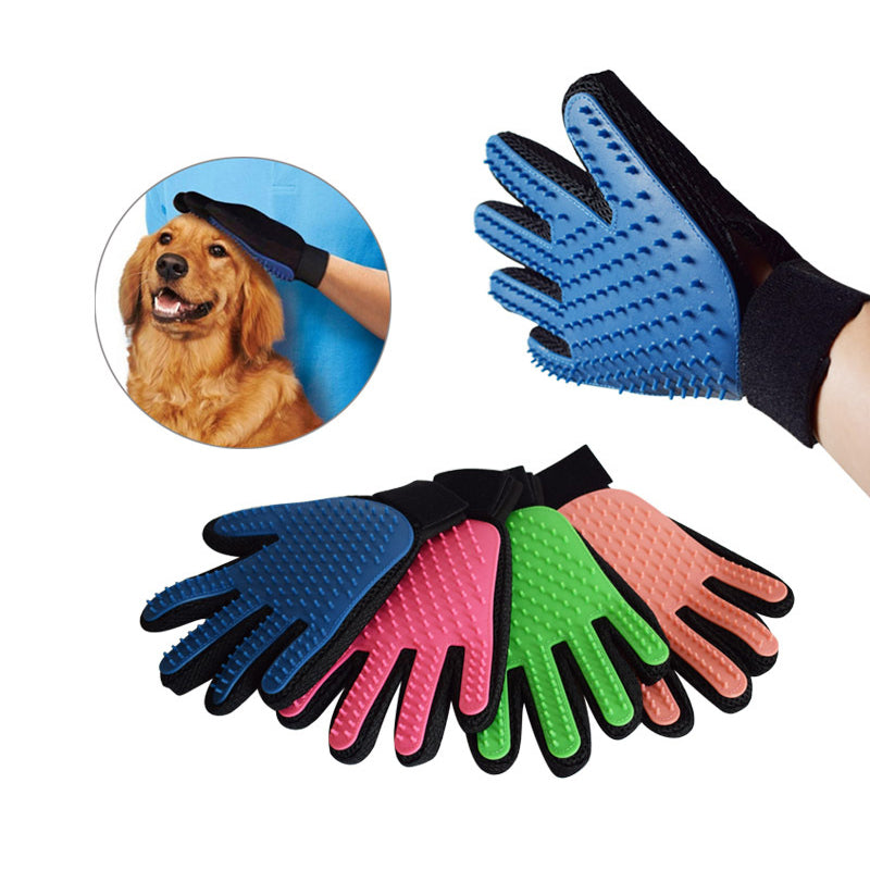 Pet Grooming Gloves for Massaging and Bathing - mycosypet