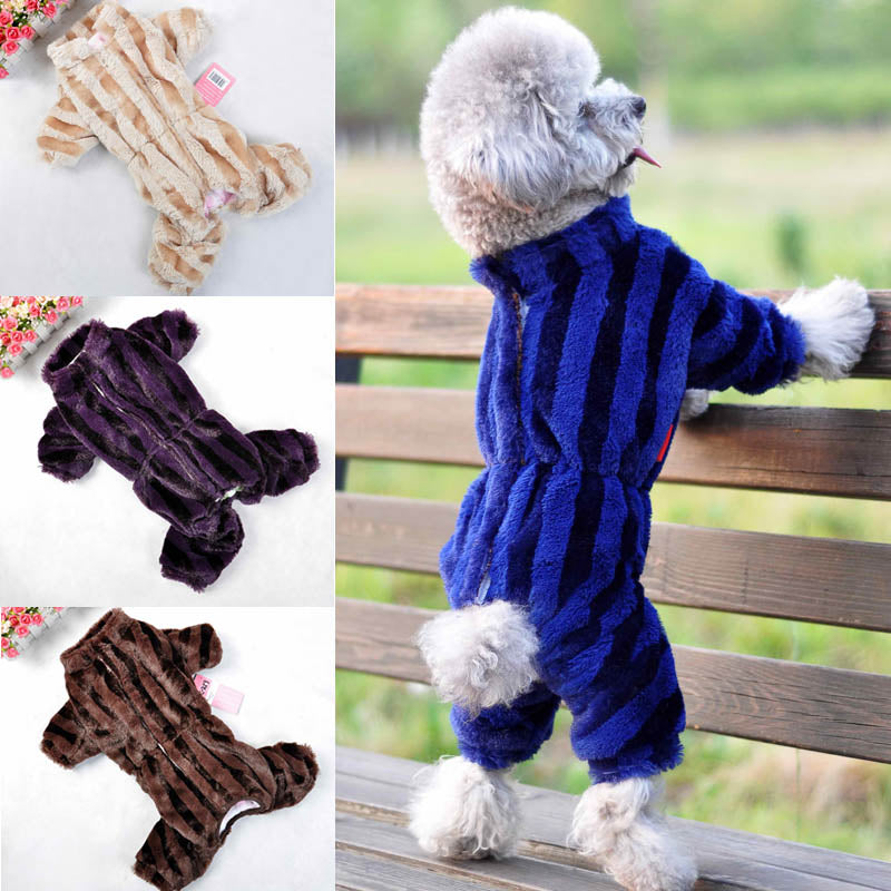 Overall Dog Down Jumpsuit with Lining to Keep Your Furry Friend Warm - mycosypet