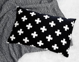 OLLI + LIME - BLACK CROSS PILLOW OLLI + LIME - BLACK CROSS PILLOW, bedding, Olli and lime, littlebelleandbeau- littlebelleandbeau