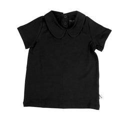 CarlijnQ - BASICS T-shirt Collar Black CarlijnQ - BASICS T-shirt Collar Black, apparel, CarlijnQ, littlebelleandbeau- littlebelleandbeau