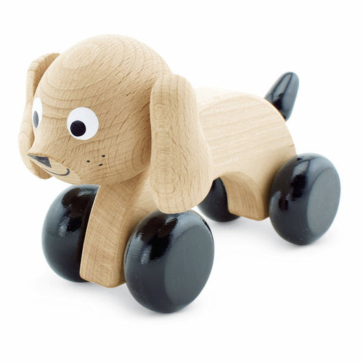 Wooden Push Along Dog - Ivy Wooden Push Along Dog - Ivy, Toys, Miva Vacov, littlebelleandbeau- littlebelleandbeau