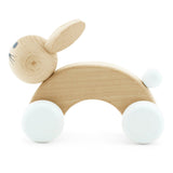 Wooden Push Along Rabbit - Cotton Tail Wooden Push Along Rabbit - Cotton Tail, Toys, Miva Vacov, littlebelleandbeau- littlebelleandbeau