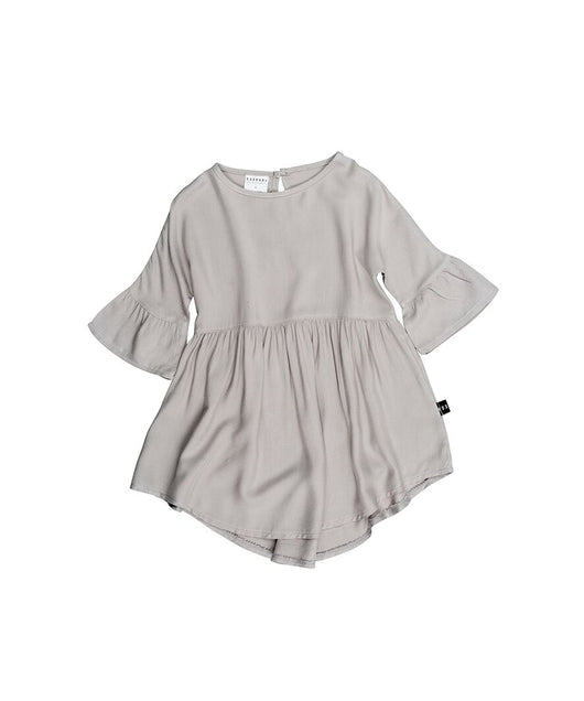 Huxbaby - Woven Dress - Grey Huxbaby - Woven Dress - Grey, apparel, huxbaby, littlebelleandbeau- littlebelleandbeau