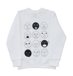 FIG & HONEY - HAPPY FACE ANGRY FACE EMOTICON JUMPER FIG & HONEY - HAPPY FACE ANGRY FACE EMOTICON JUMPER, apparel, Fig and honey, littlebelleandbeau- littlebelleandbeau