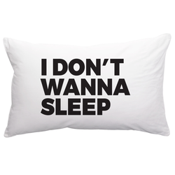 BOPOMOFO -  I don't wanna sleep pillowcase BOPOMOFO -  I don't wanna sleep pillowcase, kids interior, Bopomofoshop, littlebelleandbeau- littlebelleandbeau