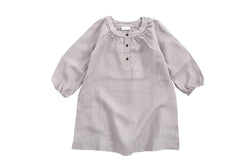 NOBONU -BONTON DRESS LIGHT GREY NOBONU -BONTON DRESS LIGHT GREY, apparel, Nobonu, littlebelleandbeau- littlebelleandbeau