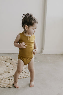 Jamie Kay - Cotton Essentials Singlet Bodysuit - Golden Jamie Kay - Cotton Essentials Singlet Bodysuit - Golden, apparel, Jamie Kay, littlebelleandbeau- littlebelleandbeau