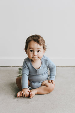 Jamie Kay - Cotton Modal Essentials Bodysuit - Ether Jamie Kay - Cotton Modal Essentials Bodysuit - Ether, apparel, Jamie Kay, littlebelleandbeau- littlebelleandbeau
