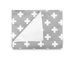 OLLI + LIME - GREY CROSS BLANKET OLLI + LIME - GREY CROSS BLANKET, bedding, Olli and lime, littlebelleandbeau- littlebelleandbeau
