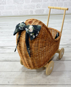 LILU - Wicker Suitcase - Wicker Dolls Pram - Natural LILU - Wicker Suitcase - Wicker Dolls Pram - Natural, kids interior, Lilu, littlebelleandbeau- littlebelleandbeau