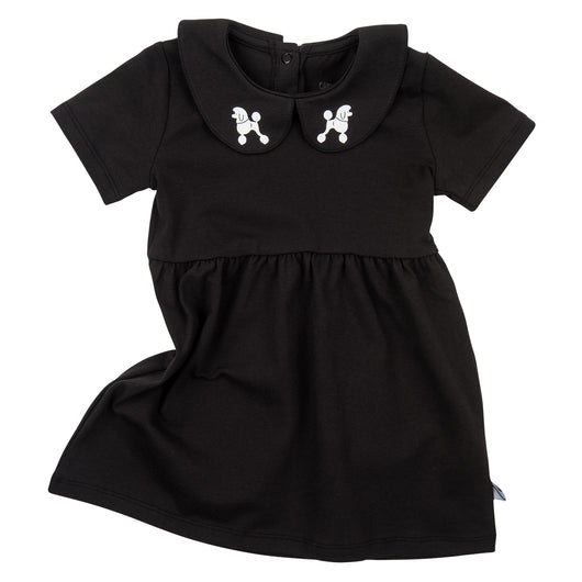 CarlijnQ - POODLES Black Collar Dress CarlijnQ - POODLES Black Collar Dress, apparel, CarlijnQ, littlebelleandbeau- littlebelleandbeau