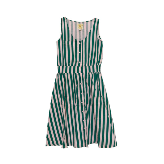 HUGO LOVES TIKI - Adult Smock Dress - Beverly Hills Stripe HUGO LOVES TIKI - Adult Smock Dress - Beverly Hills Stripe, apparel, Hugo loves tiki, littlebelleandbeau- littlebelleandbeau