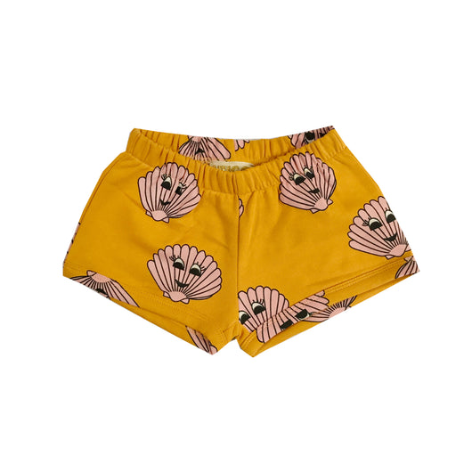 HUGO LOVES TIKI - Gold seashell shorts HUGO LOVES TIKI - Gold seashell shorts, apparel, Hugo loves tiki, littlebelleandbeau- littlebelleandbeau
