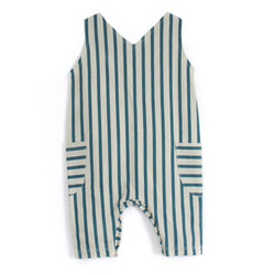 PIUPIA - Green stripes romper PIUPIA - Green stripes romper, apparel, Piupia, littlebelleandbeau- littlebelleandbeau