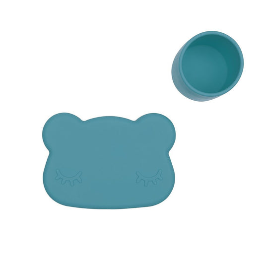 Bear snackie - Blue dusk Bear snackie - Blue dusk, kids tableware, We Might Be Tiny, littlebelleandbeau- littlebelleandbeau