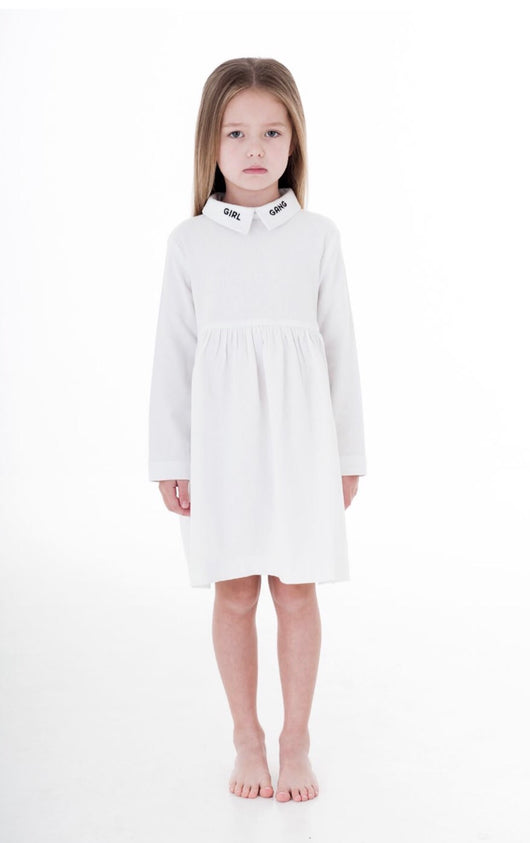 TRESSY CLUB - Girl Gang Dress White TRESSY CLUB - Girl Gang Dress White, apparel, Tressy club, littlebelleandbeau- littlebelleandbeau