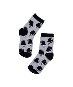CarlijnQ - Ice cream socks - grey CarlijnQ - Ice cream socks - grey, Accessories, CarlijnQ, littlebelleandbeau- littlebelleandbeau