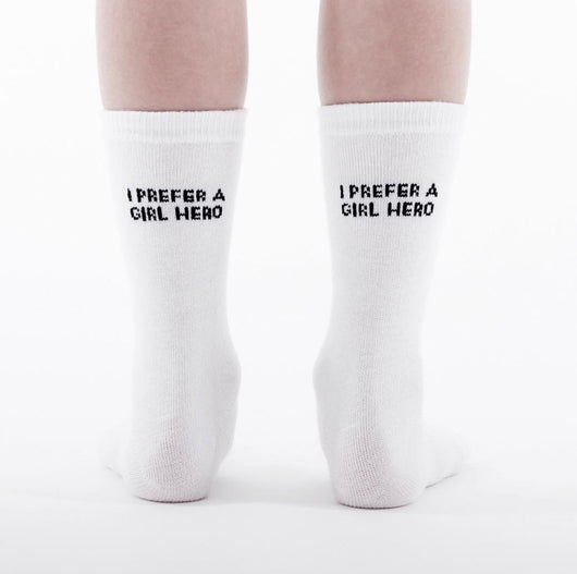 TRESSY CLUB - I Prefer a Girl Hero Socks TRESSY CLUB - I Prefer a Girl Hero Socks, apparel, Tressy club, littlebelleandbeau- littlebelleandbeau