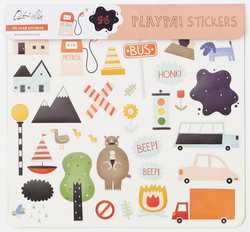 Olli Ella - Playpa Stickers - Road Olli Ella - Playpa Stickers - Road, toy, olli ella, littlebelleandbeau- littlebelleandbeau