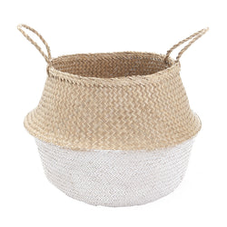 Olli Ella - White Dipped Belly Basket 35cm Olli Ella - White Dipped Belly Basket 35cm, storage, olli ella, littlebelleandbeau- littlebelleandbeau