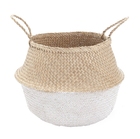 Olli Ella - White Dipped Belly Basket 42cm Olli Ella - White Dipped Belly Basket 42cm, storage, olli ella, littlebelleandbeau- littlebelleandbeau