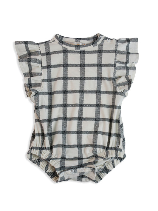 Mad About Mini - Herringbone Check Frill Onesie Mad About Mini - Herringbone Check Frill Onesie, apparel, mad about mini, littlebelleandbeau- littlebelleandbeau