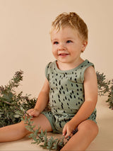 Mad About Mini - Fawn Tank Onesie - Sea Green Mad About Mini - Fawn Tank Onesie - Sea Green, apparel, mad about mini, littlebelleandbeau- littlebelleandbeau