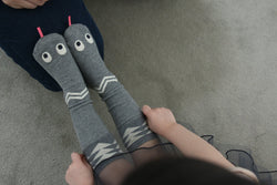 MINI DRESSING Snake Knee High Socks - Grey MINI DRESSING Snake Knee High Socks - Grey, Accessories, Mini dressing, littlebelleandbeau- littlebelleandbeau