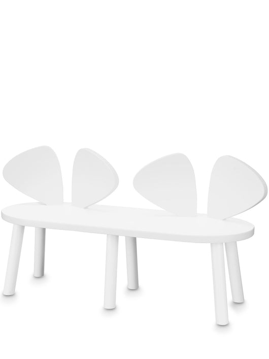 NOFRED MOUSE BENCH CHAIR – WHITE NOFRED MOUSE BENCH CHAIR – WHITE, furniture, nofred, littlebelleandbeau- littlebelleandbeau
