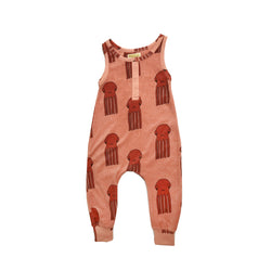HUGO LOVES TIKI - Long Leg Terry Romper - Octopus HUGO LOVES TIKI - Long Leg Terry Romper - Octopus, apparel, Hugo loves tiki, littlebelleandbeau- littlebelleandbeau