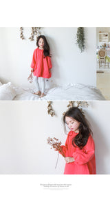 THE JANY - Ruffle smock - coral/green THE JANY - Ruffle smock - coral/green, apparel, THE JANY, littlebelleandbeau- littlebelleandbeau