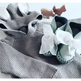 DONSJE - PINA | Leather Light Grey & Chiffon DONSJE - PINA | Leather Light Grey & Chiffon, Shoes, DONSJE, littlebelleandbeau- littlebelleandbeau