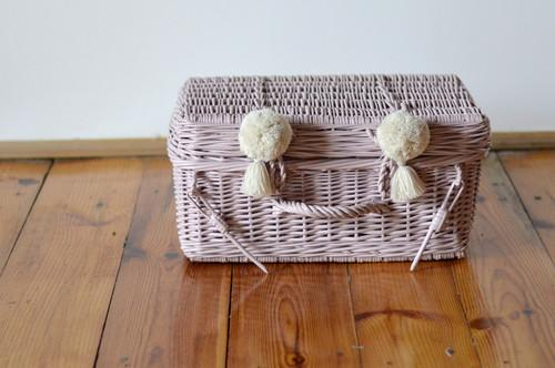 LILU - Wicker Suitcase - Dusty Pink LILU - Wicker Suitcase - Dusty Pink, kids interior, Lilu, littlebelleandbeau- littlebelleandbeau