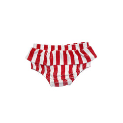 HUGO LOVES TIKI - Terry Ruffle Bloomers - Red Stripe HUGO LOVES TIKI - Terry Ruffle Bloomers - Red Stripe, apparel, Hugo loves tiki, littlebelleandbeau- littlebelleandbeau