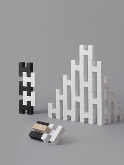 ROCK & PEBBLE - H BLOCK - WHITE ROCK & PEBBLE - H BLOCK - WHITE, Toys, rock & pebble, littlebelleandbeau- littlebelleandbeau