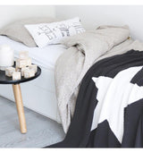 OOH NOO STAR THROW - Black OOH NOO STAR THROW - Black, bedding, Oohnoo Official, littlebelleandbeau- littlebelleandbeau