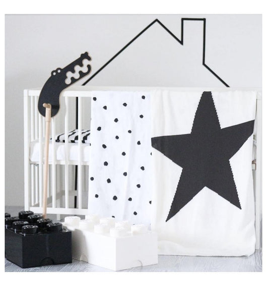 OOH NOO STAR THROW - White OOH NOO STAR THROW - White, bedding, Oohnoo Official, littlebelleandbeau- littlebelleandbeau